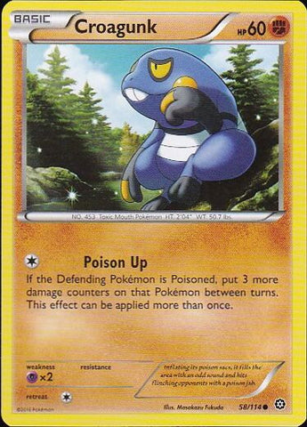 Croagunk - 58/114 CommonPokemon Card SingleGotta Collect 'Em All! Pokemon