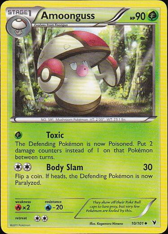 Amoonguss - 10/101 Uncommon, Pokemon Card Single, Gotta Collect Em All, product_collection], Pokemon