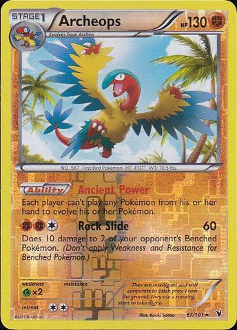 Archeops - 67/101 Rare Reverse Holo, Pokemon Card Single, Gotta Collect Em All, product_collection], Pokemon