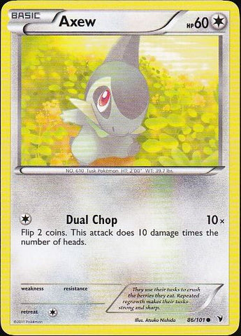 Axew - 86/101 Common, Pokemon Card Single, Gotta Collect Em All, product_collection], Pokemon