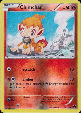 Chimchar - 18/114 Common Reverse HoloPokemon Card SingleGotta Collect 'Em All! Pokemon