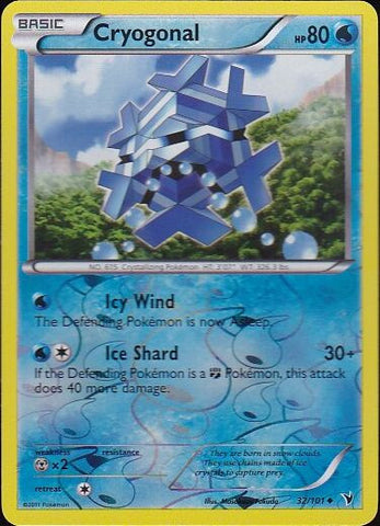 Cryogonal - 32/101 Uncommon Reverse HoloPokemon Card SingleGotta Collect 'Em All! Pokemon