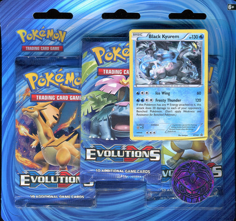 Pokémon TCG: XY Evolutions 3 Pack Blister - Black Kyurem Promo