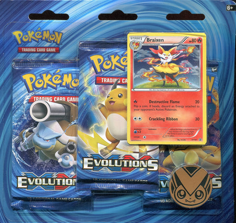Pokémon TCG: XY Evolutions 3 Pack Blister - Braixen Promo