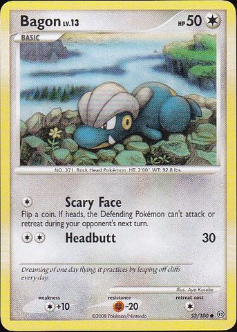Bagon - 53/100 Common, Pokemon Card Single, Gotta Collect Em All, product_collection], Pokemon