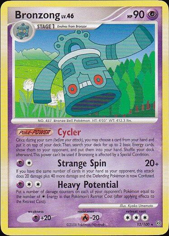 Bronzong - 13/100 Rare, Pokemon Card Single, Gotta Collect Em All, product_collection],Pokemon