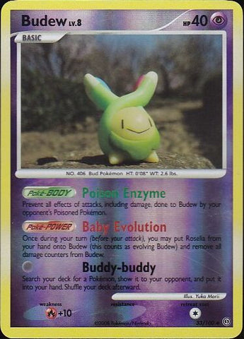 Budew - 33/100 Uncommon Reverse Holo, Pokemon Card Single, Gotta Collect Em All, product_collection],Pokemon