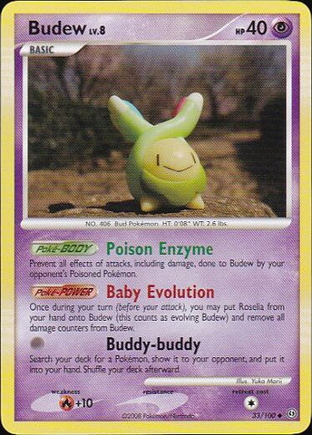 Budew - 33/100 Uncommon, Pokemon Card Single, Gotta Collect Em All, product_collection],Pokemon