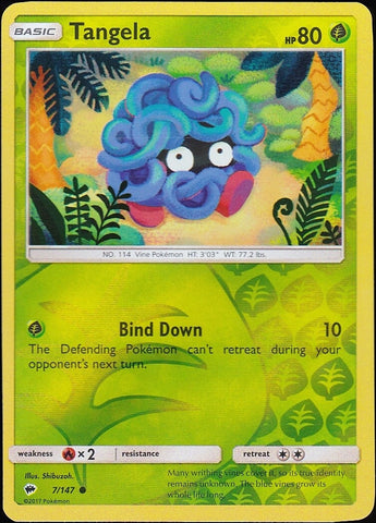 Tangela - 7/147 Common Reverse Holo