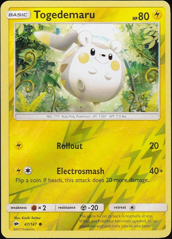 Togedemaru - 47/147 Common Reverse Holo
