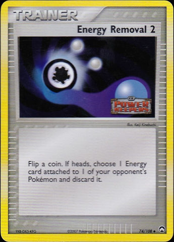 Energy Removal 2 - 74/108 Uncommon Reverse Holo