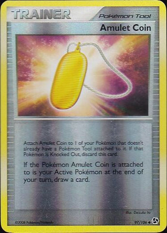 Amulet Coin - 97/106 Uncommon Reverse Holo, Pokemon Card Single, Gotta Collect Em All, product_collection], Pokemon