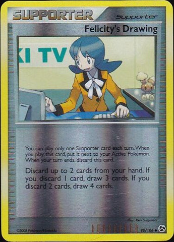 Felicity's Drawing - 98/106 Uncommon Reverse HoloPokemon Card SingleGotta Collect 'Em All! Pokemon