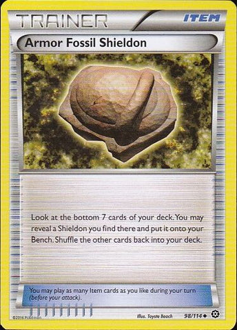 Armor Fossil Shieldon - 98/114 Uncommon, Pokemon Card Single, Gotta Collect Em All, product_collection], Pokemon