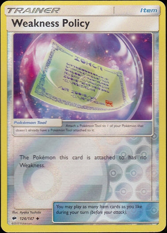 Weakness Policy - 126/147 Uncommon Reverse Holo