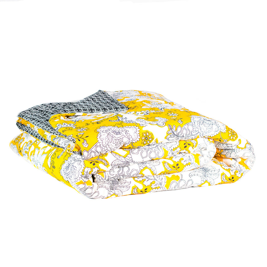 KANTHA quilt bedlinen yellow floral myer kip and co sage and clare society of wanderers