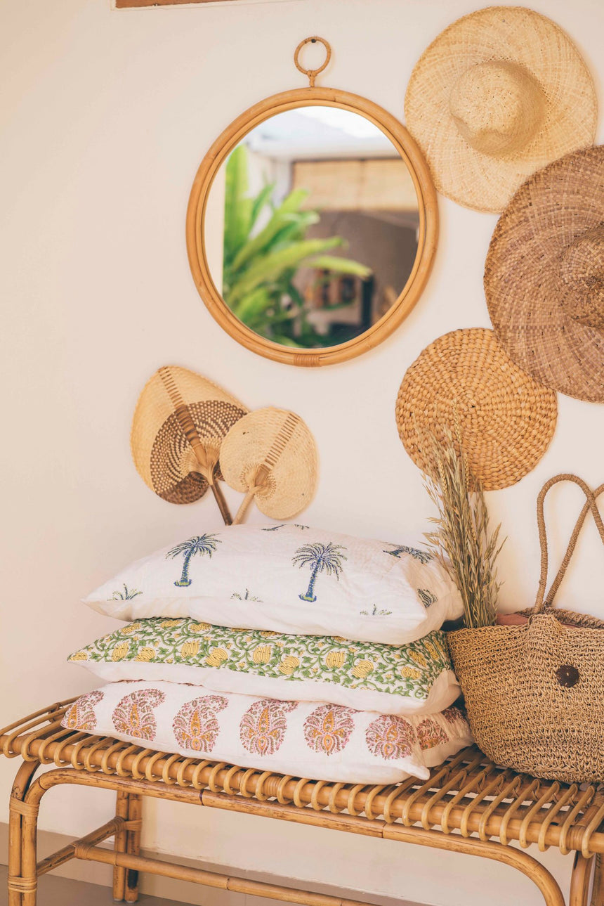 Desert Bloom Mini Kantha Quilt