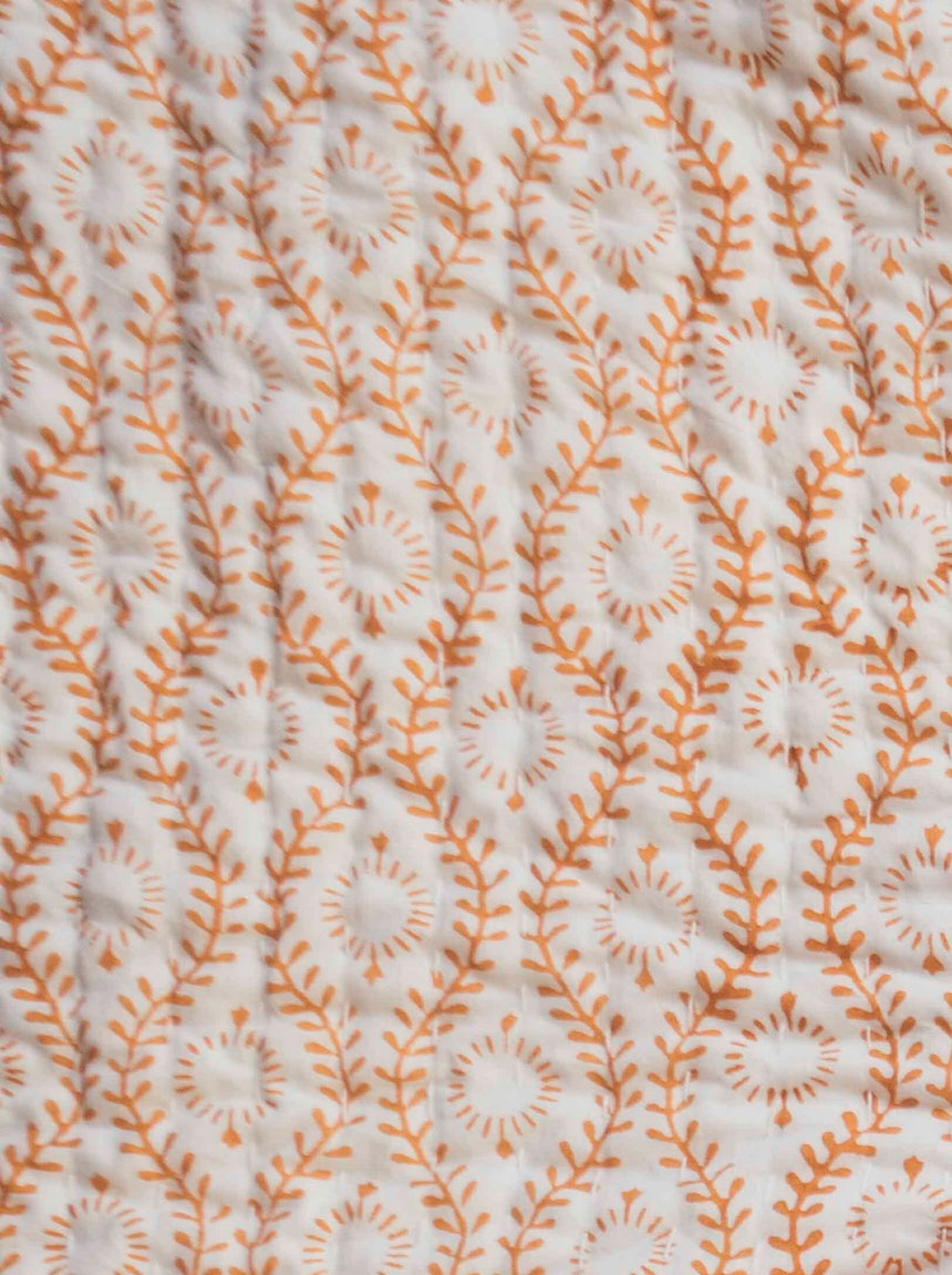 Desert Bloom Kantha Quilt