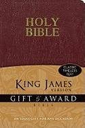KJV, Gift and Award Bible, Imitation Leather, Burgundy