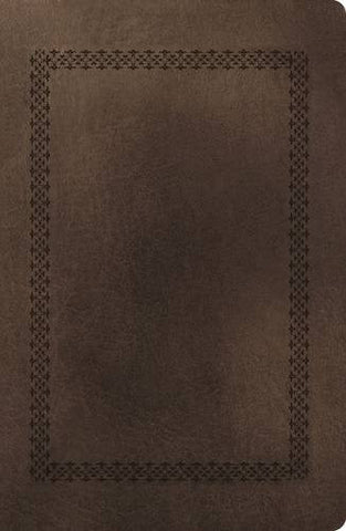 NKJV, End-of-Verse Reference Bible, Giant Print, Personal Size, Imitation Leather, Brown, Full Color
