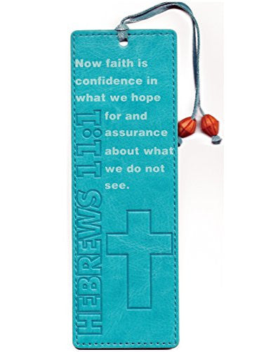 Leather-look Bookmark - Now Faith Is Confidence in What We Hope For
