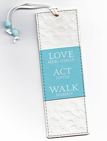 Leather-look Bookmark - Love Mercifully, Act Justly, Walk Humbly