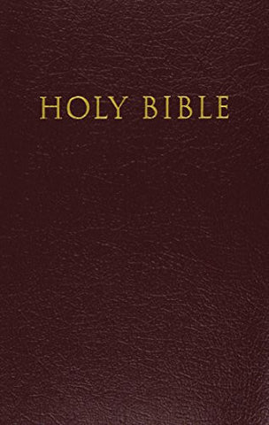 KJV, Reference Bible, Giant Print, Imitation Leather, Burgundy, Red Letter Edition