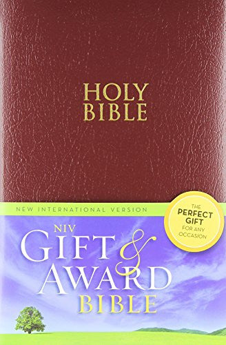 NIV, Gift and Award Bible, Imitation Leather, Burgundy