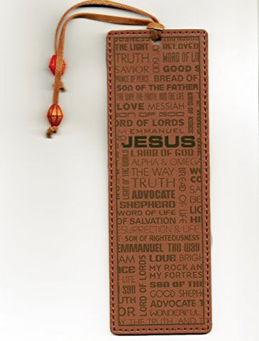 Leather-look Bookmark - Names of Jesus