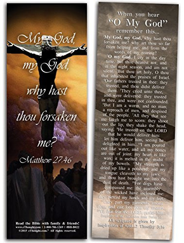 "O My God: Psalm 22 Foretells Jesus' Crucifixion - Pack of 25 Cards - 2""x6"""