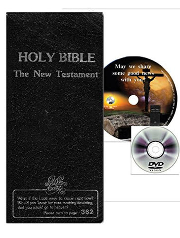 Gospel Presentation Set - New Testament Bible and Free DVD