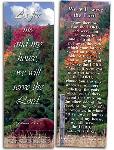 "We Will Serve the Lord - Pack of 25 Cards - 2""x6"""