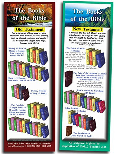Books of the Bible - Pack of 25 Cards