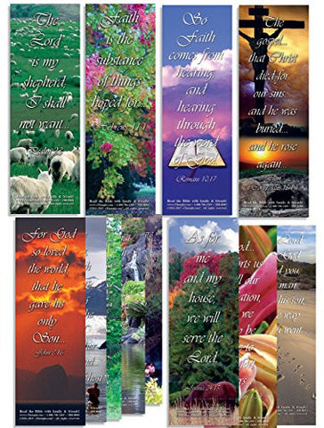 Assorted Pack of 50 Bible Bookmarks