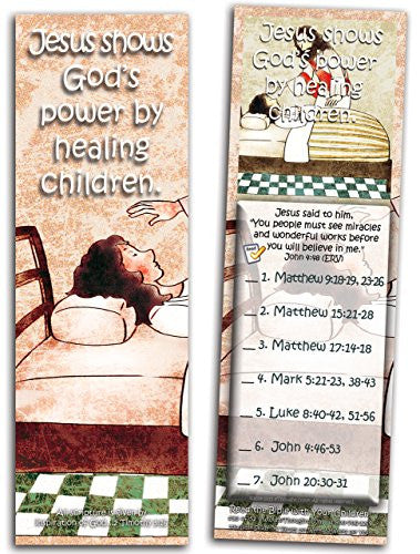 Jesus Shows God's Power By Healing Children - Pack of 25 Cards