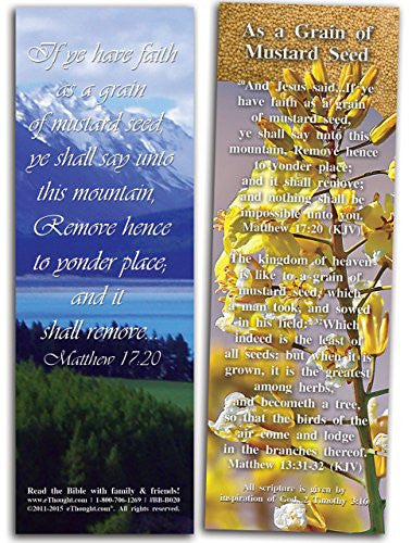 Matthew 17:20, 25 Pack of Christian Bible Cards