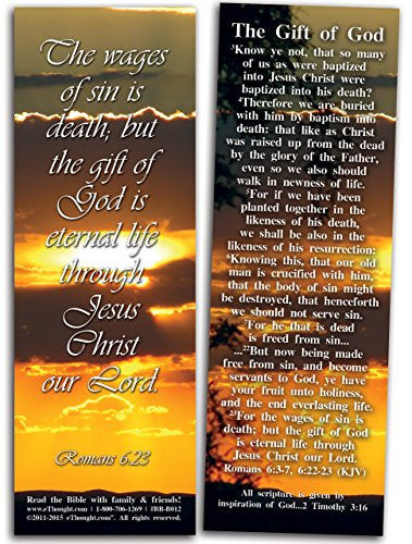 "The Gift of God - Pack of 25 Cards - 2""x6"""