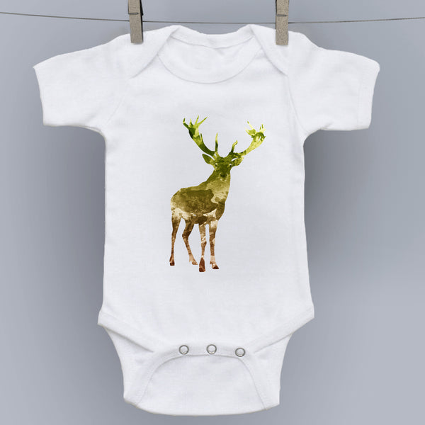 Little Deer - Watercolor Forest Creatures Onesie