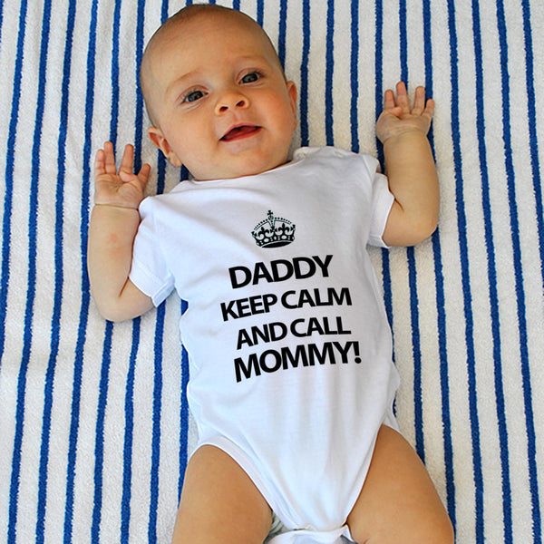 Hilariously Cute Onesie - Keep Calm and Call Mommy