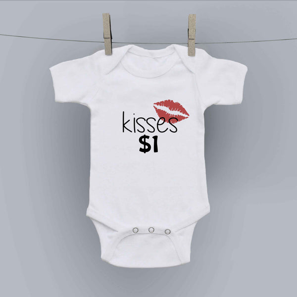Hilariously Cute Onesie - Kisses $1