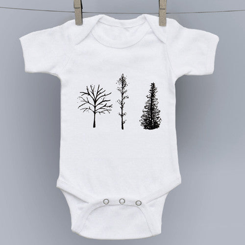 3 Trees Original Art Onesie