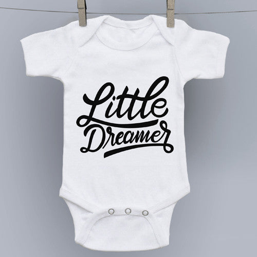 Little Dreamer Hand Lettering Art Onesie