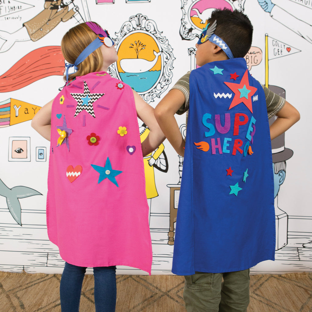 Seedling design your own pink superhero cape tinytradingco for Design a cape