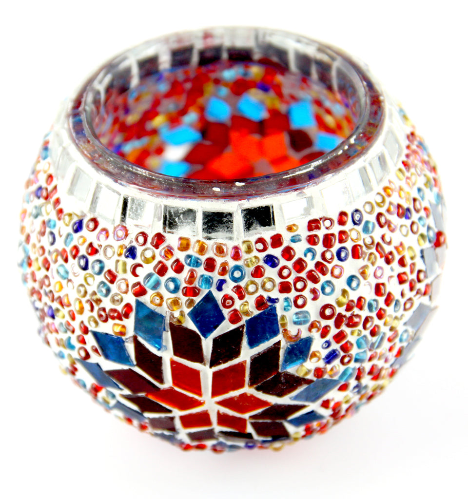 "Mosaic Candle Holder 3.9""(Inches)"