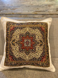 White Cushion Cover Traditional Ceramic Design - Tribal Pillow Cover - Floral Pattern pillow - Ottoman style cushion cover - Turkish cushion cover