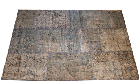 Turkish Patchwork Style Hand Knotted Rug 3'.0'' x 9'.3""