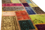 Turkish Patchwork Style Hand Knotted Rug 2'.5' x 6'.8
