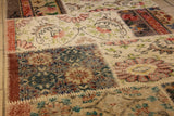 Turkish Patchwork Style Hand Knotted Rug 3'.0'' x 9'.3