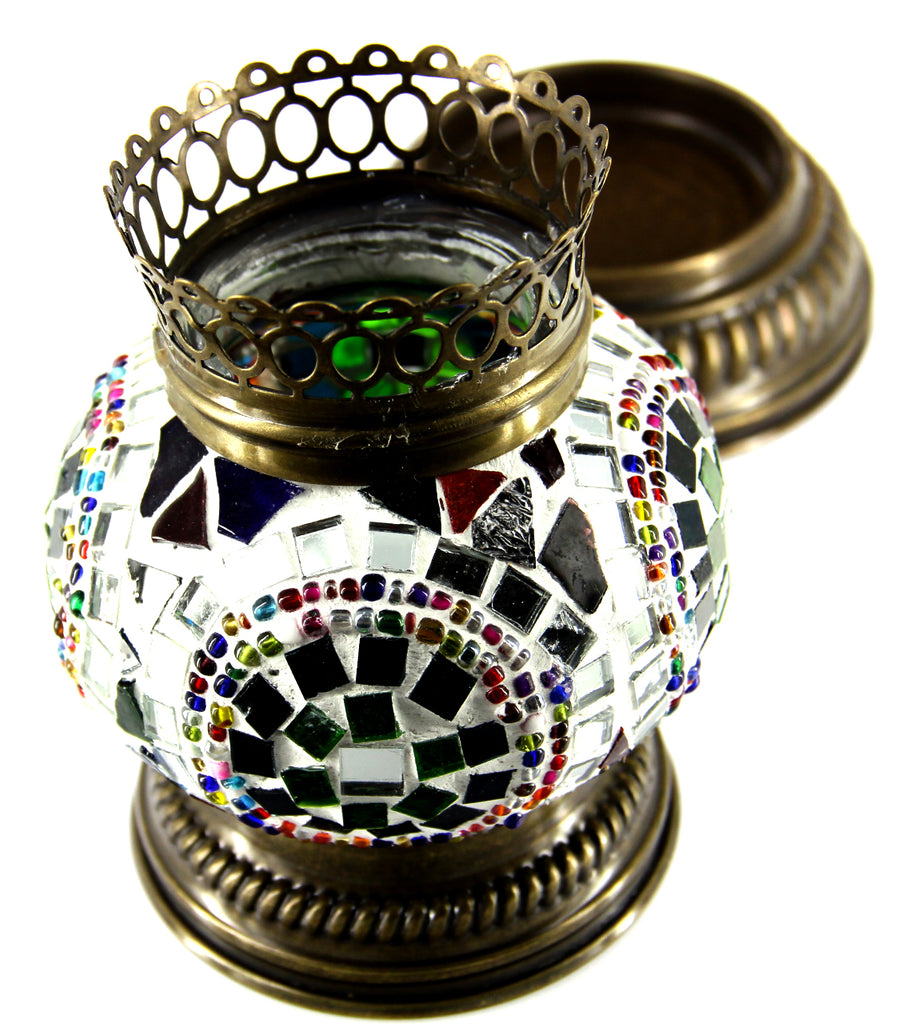 "Mosaic Candle Holder 5""(Inches)"