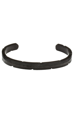 *Mister Feather Cuff Bracelet - Black - Mister SFC - 1